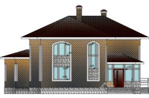 Проект 2 этажного каркасного дома площадью 222 м2, КР-0211