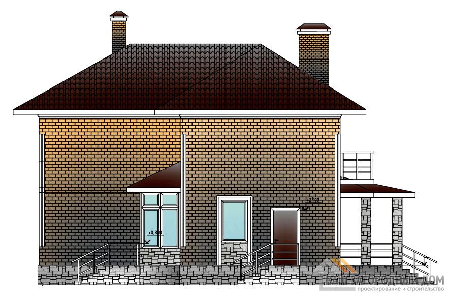 Проект 2 этажного каркасного дома площадью 222 м2, КР-02112