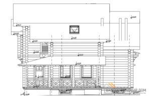 Проект 2 этажного деревянного дома площадью 181 м2, Д-02192
