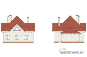 Проект 2 этажного газобетонного дома площадью 209 м2, К-02212