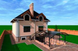 Проект двухэтажного дома из несъемной опалубки площадью 272 м2, К-02222