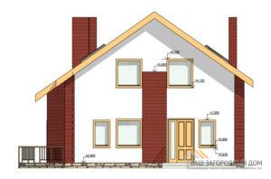 Проект 2 этажного газобетонного дома площадью 156 м2, К-0224