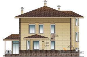 Проект 2 этажного газобетонного дома площадью 227 м2, К-02262
