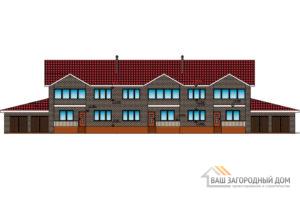 Проект 2 этажного газобетонного дома площадью 667 м2, К-0227