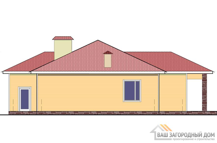 Проект 1 этажного газобетонного дома площадью 146 м2, К-02322