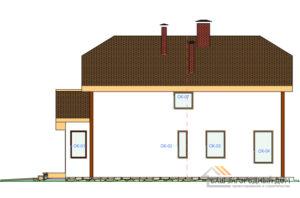 Проект 2 этажного каркасного дома площадью 230 м2, КР-02352
