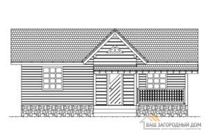 Проект двухэтажного деревянного дома, Д-02362