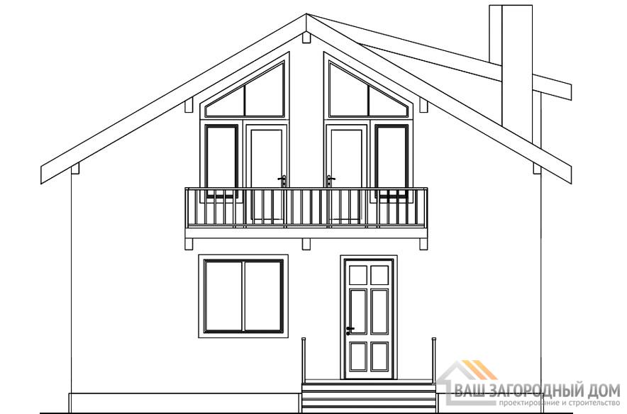 Проект 2 этажного каркасного дома площадью 216 м2, КР-0239