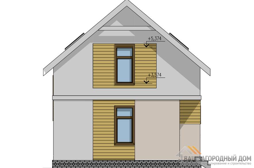 Проект 2 этажного карскасного дома площадью 105 м2, КР-0240
