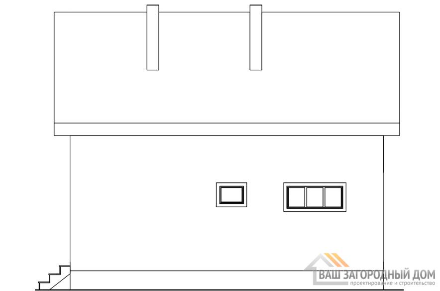 Проект 2 этажного дома, возведнного из каркасных блоков площадью 118 м2, К-02412