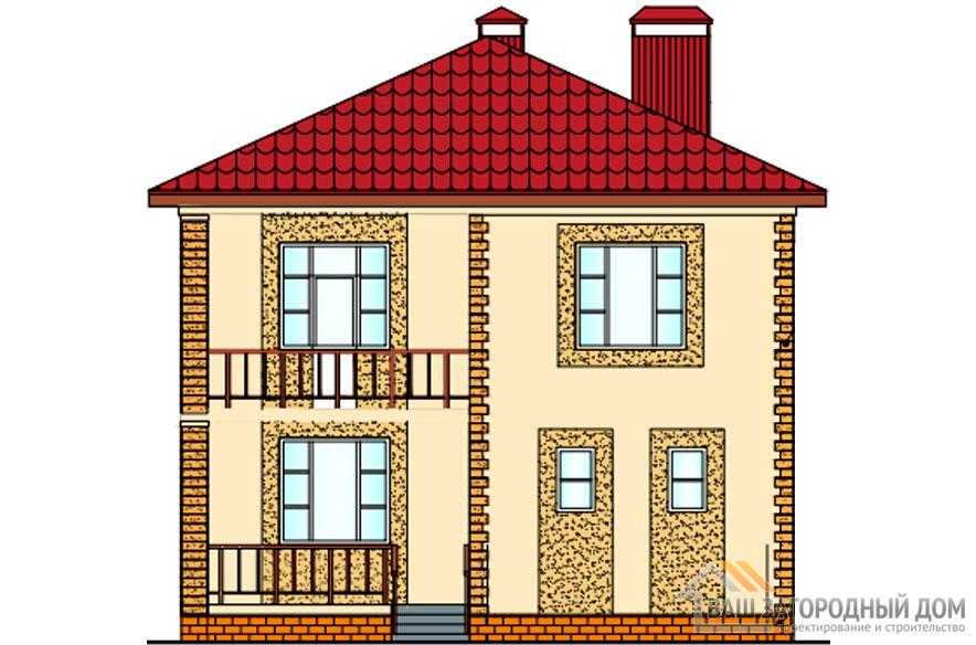 Проект 2 этажного керамзитобетонного дома площадью 169 м2, К-0244
