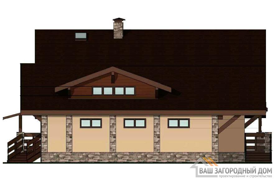 Проект 2 этажного арболитового дома площадью 415 м2, К-02452