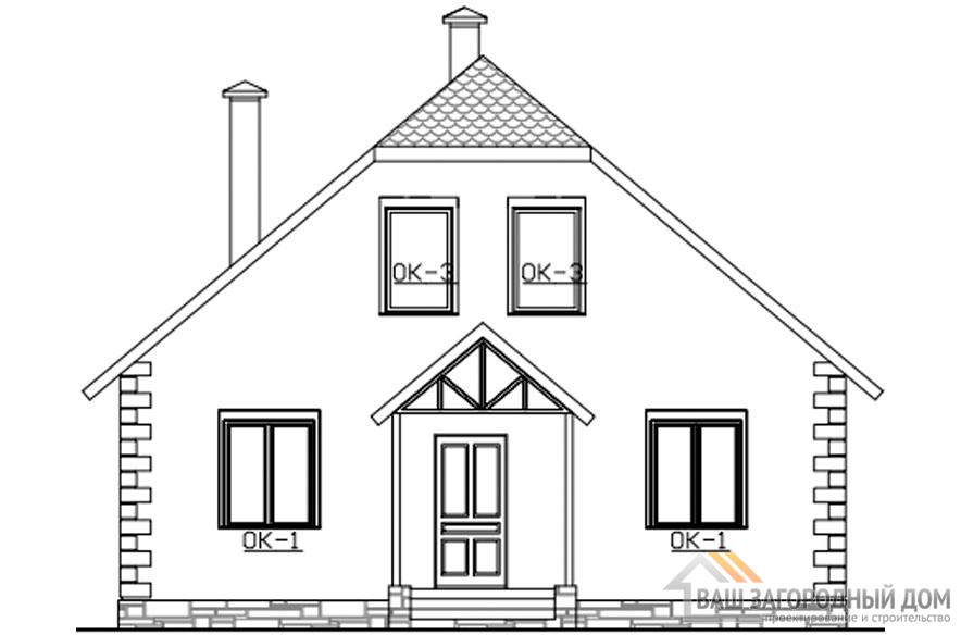 Проект 2 этажного каркасного дома площадью 127 м2, КР-0247