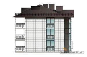 Проект 2 этажного каркасного дома площадью 408 м2, КР-02502
