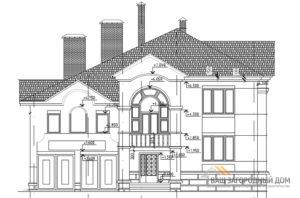 Проект элегантного 2 этажного дома, общей площадью 294 м2, К-0130