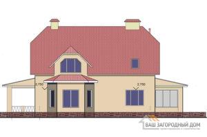 Проект дома в 1 этаж с мансардой , общей площадью 202,45, К-0146