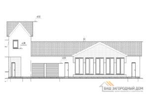 Проект дома в 2 этажа, общей площадью 222 м2, К-0430