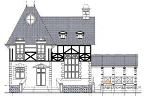 Проект необычайно красивого двухэтажного дома, общей площадью 200,4 м2, К-0434