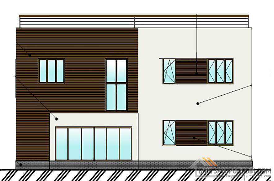 Проект дома в  два этажа, общей площадью 199,5 м2, К-04372