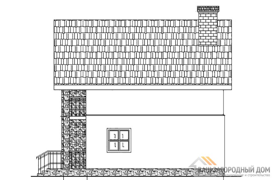 Проект коттеджа в 2 этажа, общей площадью 273 м2, К-04402