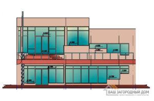 Проект 2-х этажного дома в сите хай-тек, площадью 285 м2, К-0109