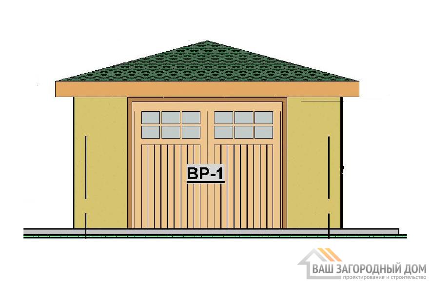 Проект гаража, общей площадью 28,7 м2 , К-0102