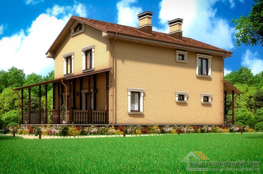 Проект 2 этажного дома, возведенного из газобетонных блоков площадью 162 м2, К-03362