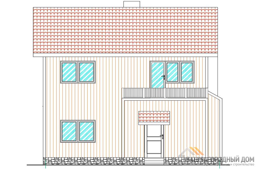 Проект коттеджа в один этаж с мансардой, общей площадью 111 м2, К-0121