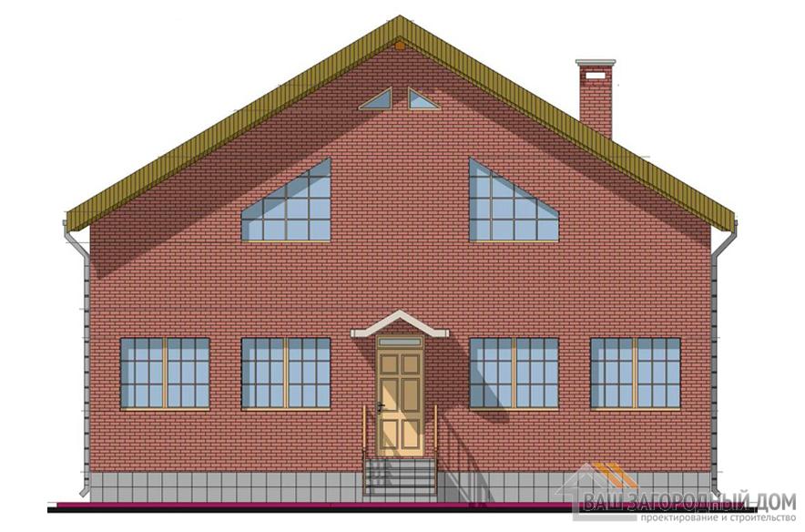 Проект дома с мансардным этажом, общей площадью 275,13 м2, К-0129