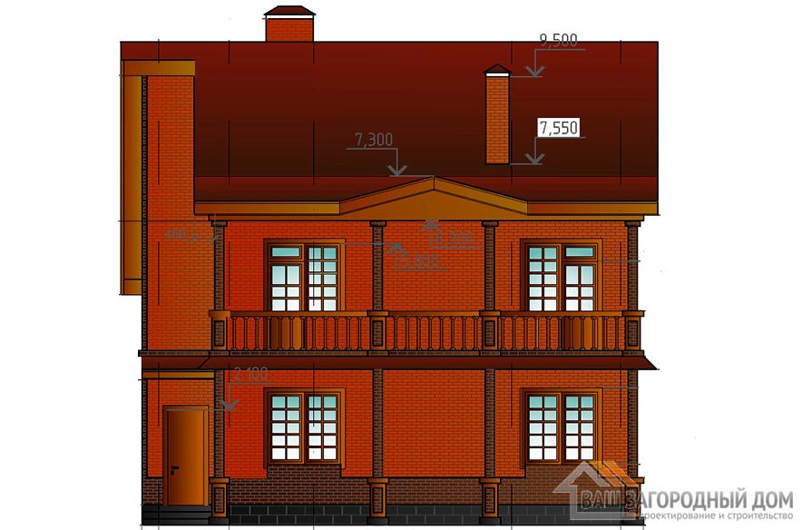 Проект двухэтажного коттеджа с подвалом, общей площадью 253,8 м2, К-0131