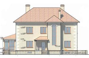 Проект 2-х этажного дома с цоколем , площадью 377 м2, К-0142