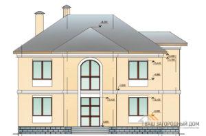 Проект двухэтажного коттеджа, общей площадью 204,75 м2, К-0149