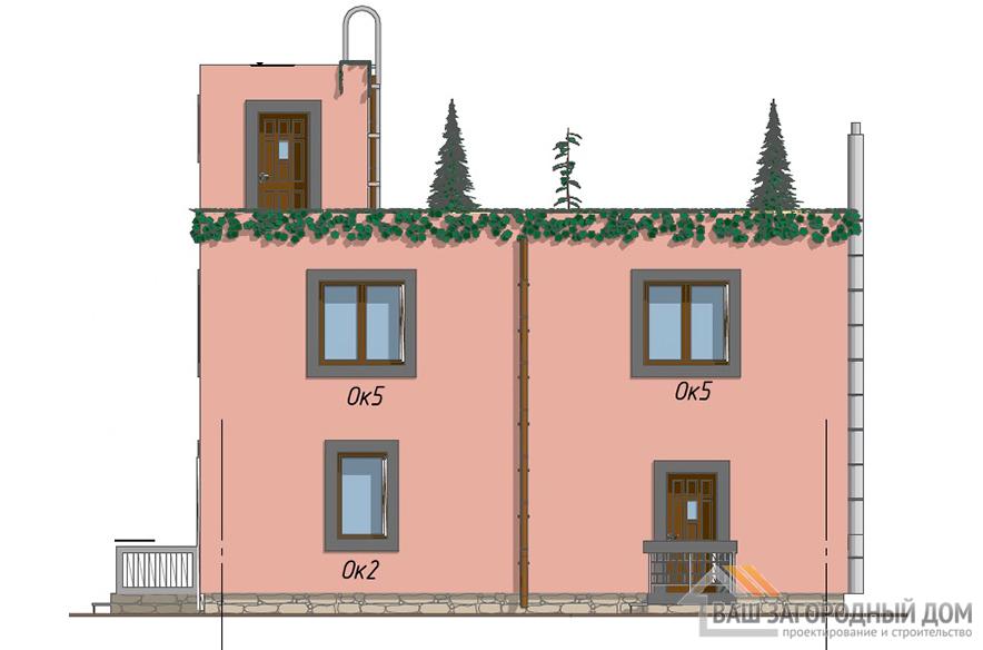 Проект 2-х этажного дома, общей площадью 171 м2, К-0426