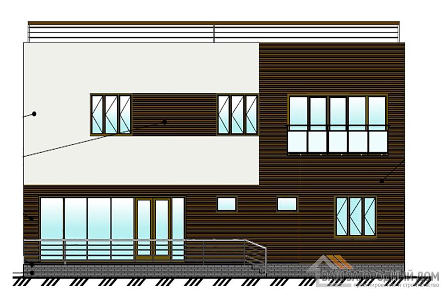 Проект дома в  два этажа, общей площадью 199,5 м2, К-0437