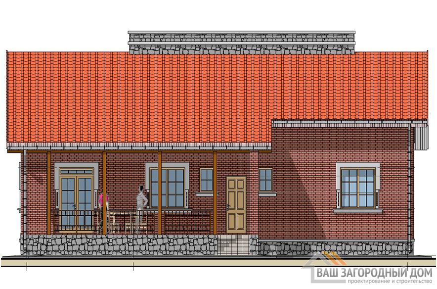Проект одноэтажного коттеджа, общей площадью 180,25 м2, К-0140