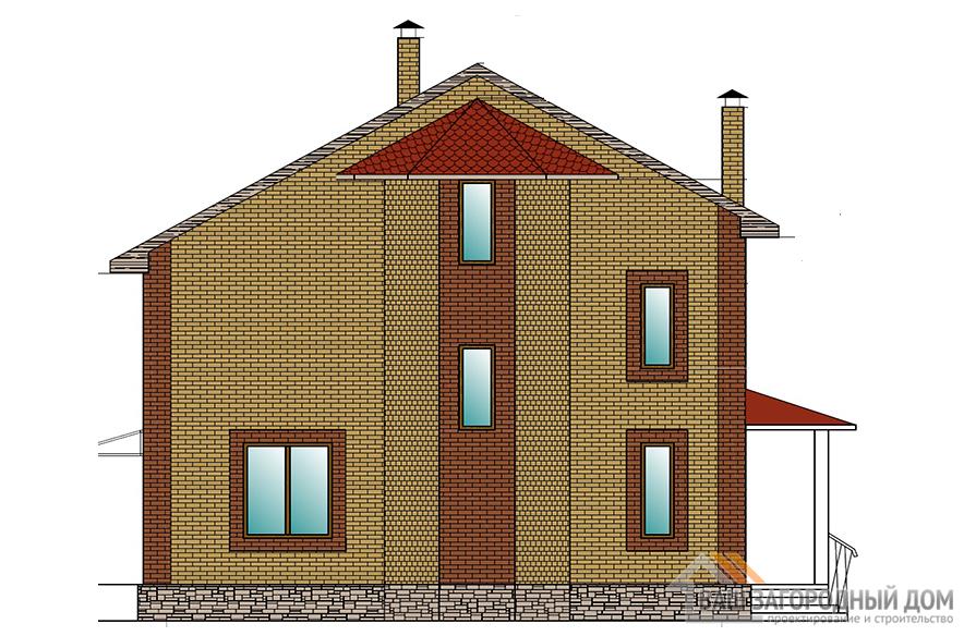 Проект 2-х этажного коттеджа с мансардой, общей площадью 241 м2, К-0148
