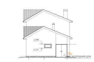 Проект дома в 2 этажа, общей площадью 222 м2, К-04302