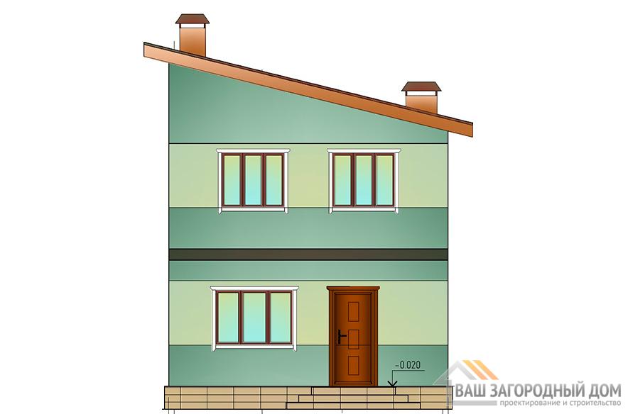Проект двухэтажного коттеджа, общей площадью 146,5 м2, К-0118