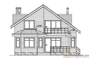 Проект дома в 1 этаж с мансардой, общей площадью 193,7 м2, К-0108