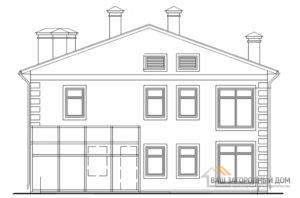 Проект двухэтажного дома с гаражом, общей площадью 218,4 м2, К-0439