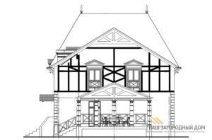 Проект необычайно красивого двухэтажного дома, общей площадью 200,4 м2, К-04342