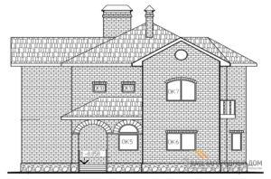 Проект двух этажного дома с цоколем, общей площадью 252 м2, К-0105