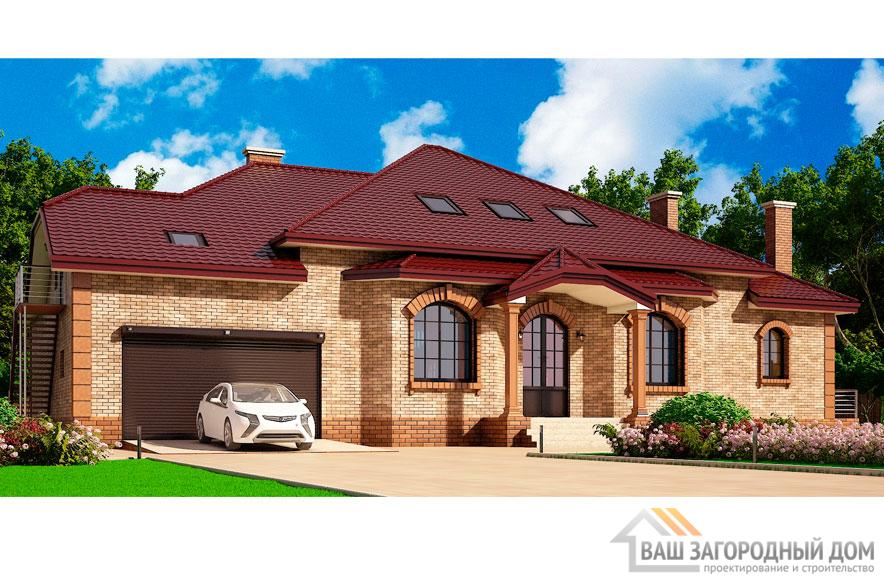 Проект 2 этажного газобетонного дома площадью 441 м2, К-0083