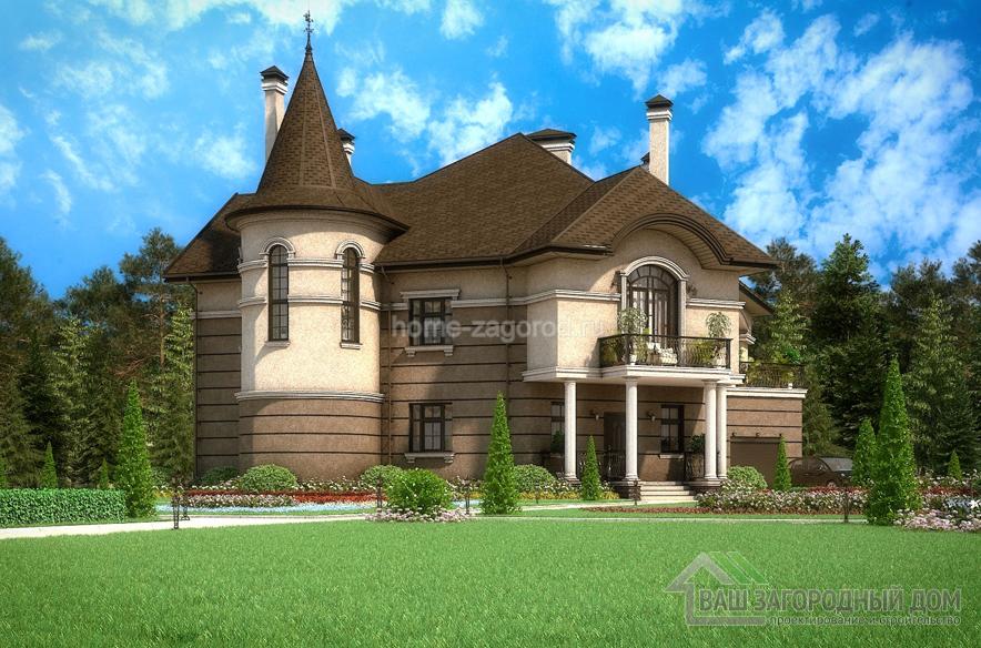 Проект 2 этажного дома, возведенного из кирпича площадью 392 м2, К-01042