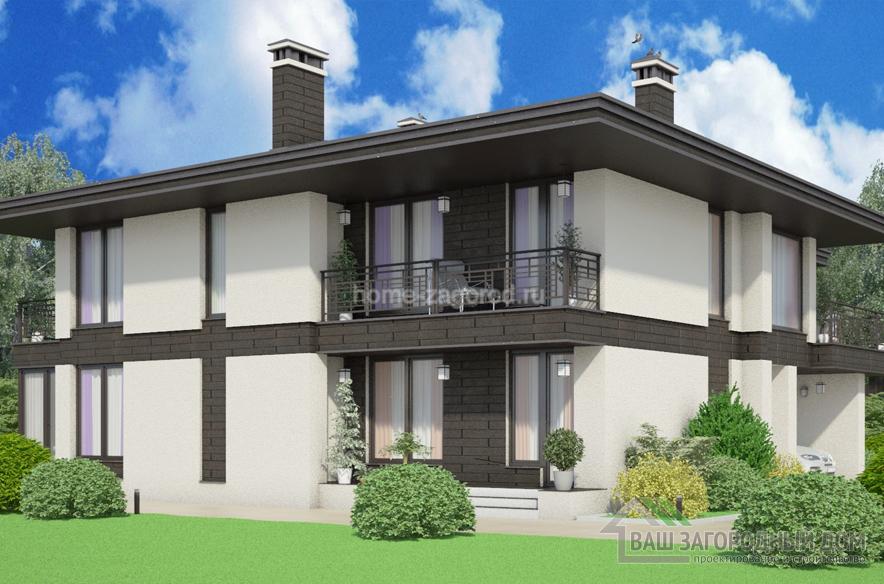 Проект 2 этажного дома возведенного из керамических блоков площадью 250 м2, К-03162