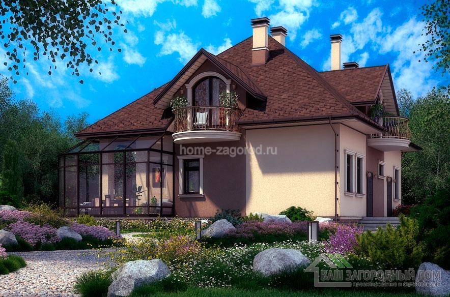 Проект 2 этажного дома  возведенного из газобетонных блоков площадью 254 м2, К-03622