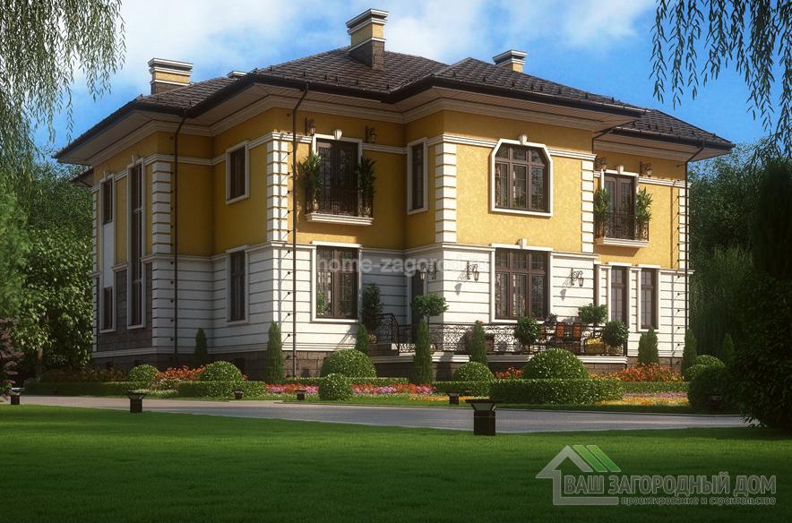 Проект 2 этажного дома, возведенного из кирпича площадью 537 м2, К-03692