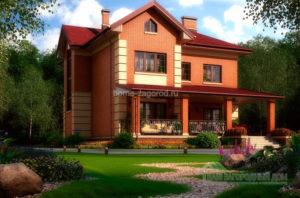Классический проект 2-х этажного дома, общей площадью 264 м2 К-03782
