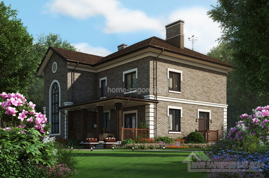 Проект дома в 2 этажа, общей площадью 250 м2, К-03812