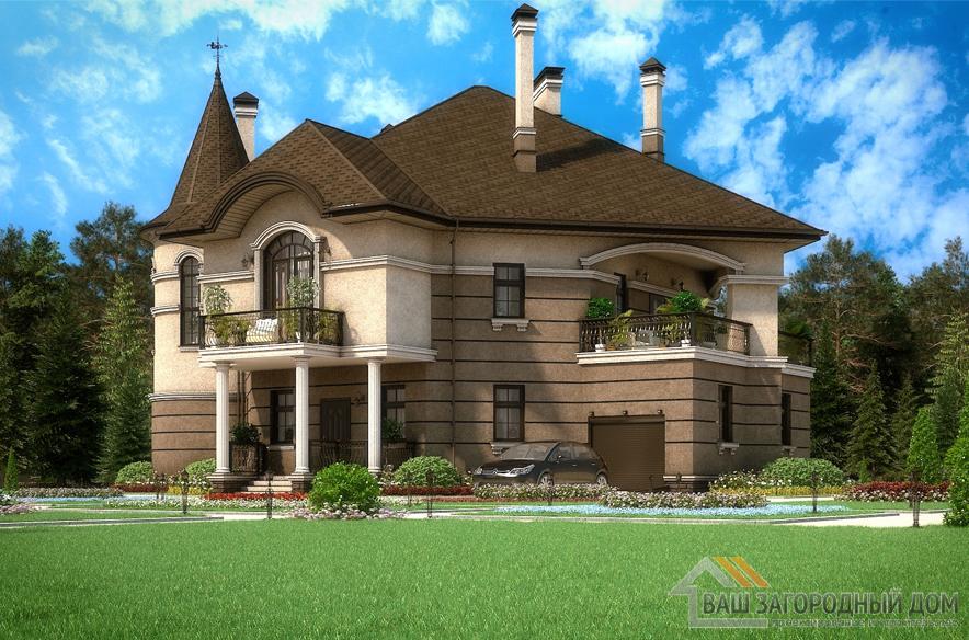 Проект 2 этажного кирпичного дома площадью 392 м2, К-0104